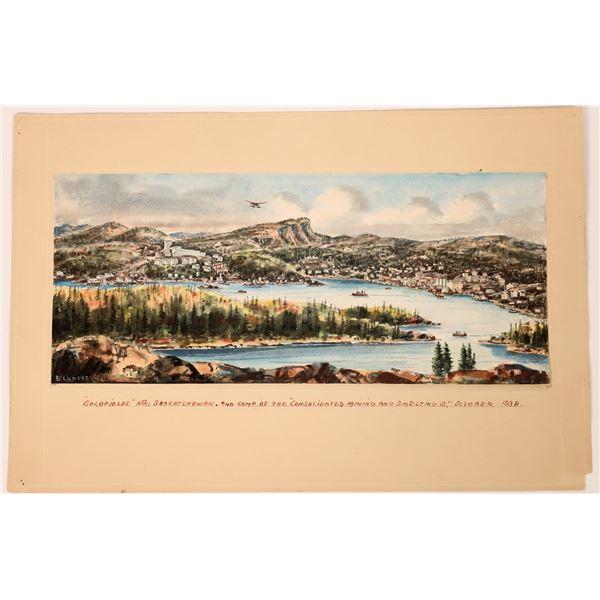 Watercolor of the Gold Fields of Saskatchewan  [130476]