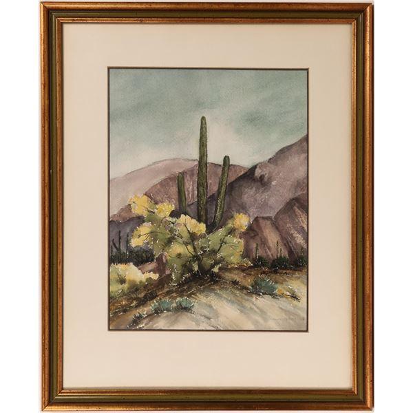 Original Watercolor Desert Scene  [139761]