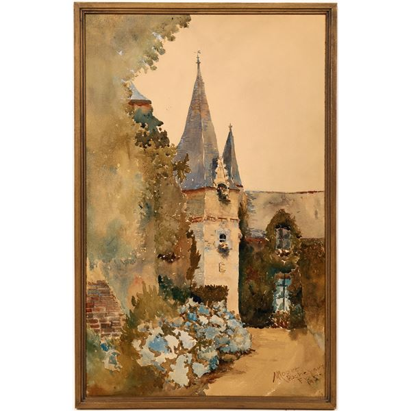 Rochefort France Watercolor on Wood  [139633]