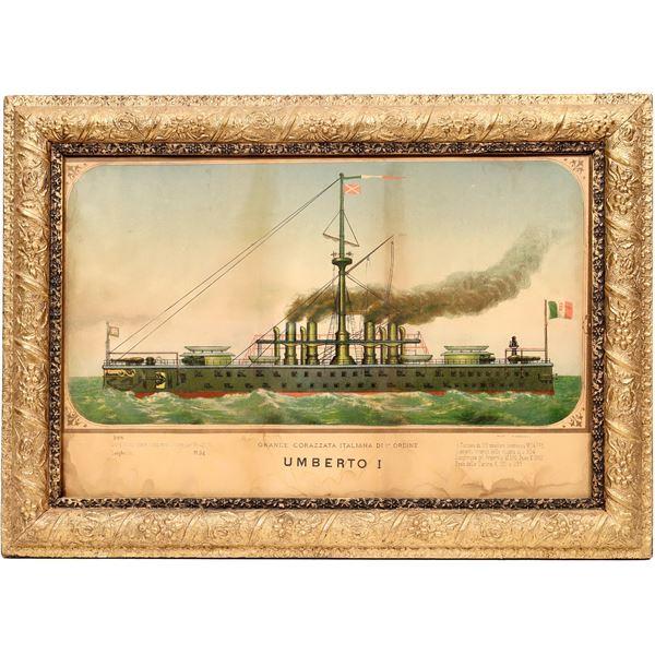 Umberto I Grande Corazzata Framed Print [139636]