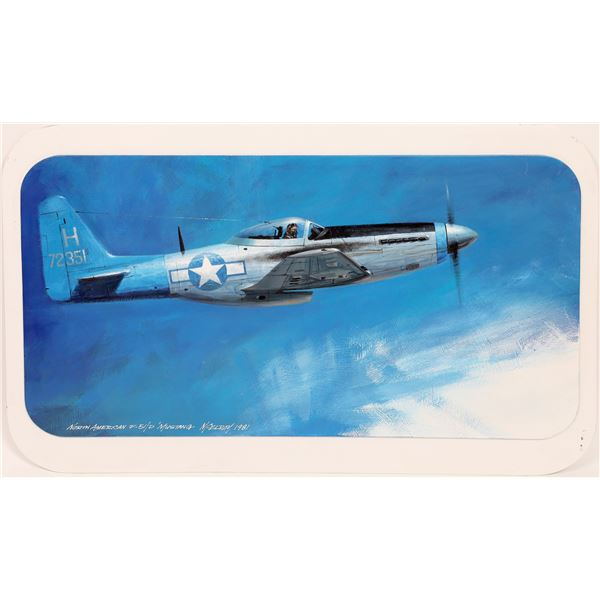 F-51 Mustang Painting by David Charles McElroy  [140027]