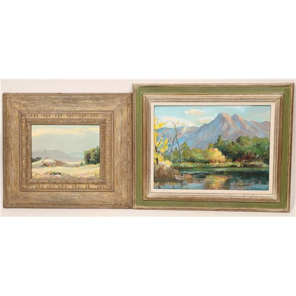 Two Fred Penny Original Oil Paintings  [139843]