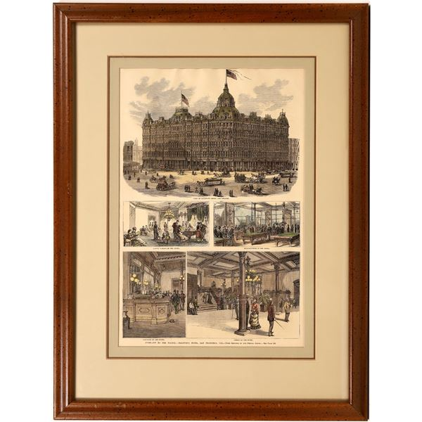 Baldwin Hotel - Woodcut, Hand Colored Print  [139466]