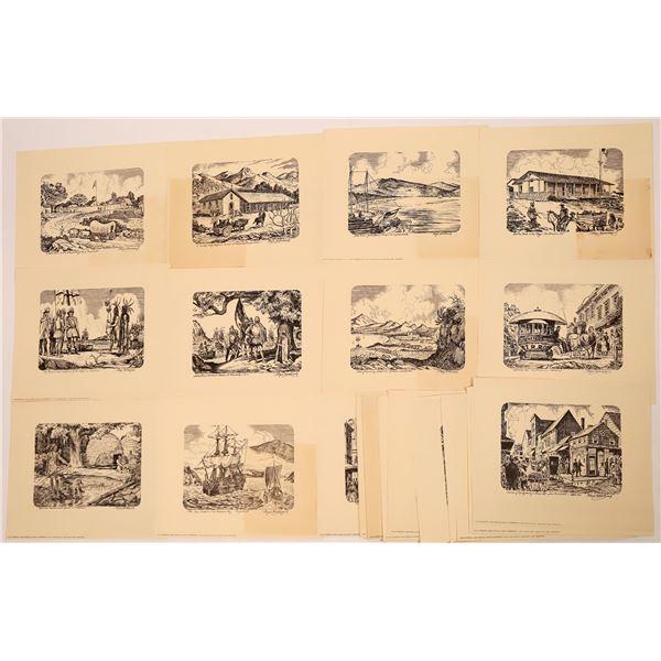 Vintage Floyd Hildebrand Art Prints (30)  [139385]