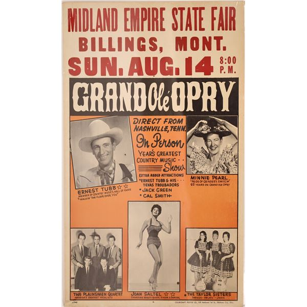 Grand Ole Opry goes to Billings, Montana  [139513]