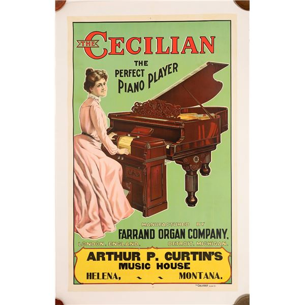 The Cecilian Piano Player Arthur Curtin's Music House Helena  [139731]