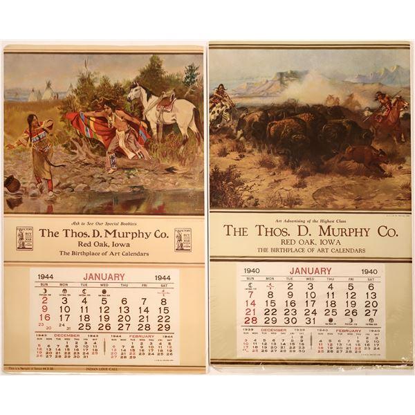 T. D. Murphy Co. CM Russell Art Calendars  [139536]