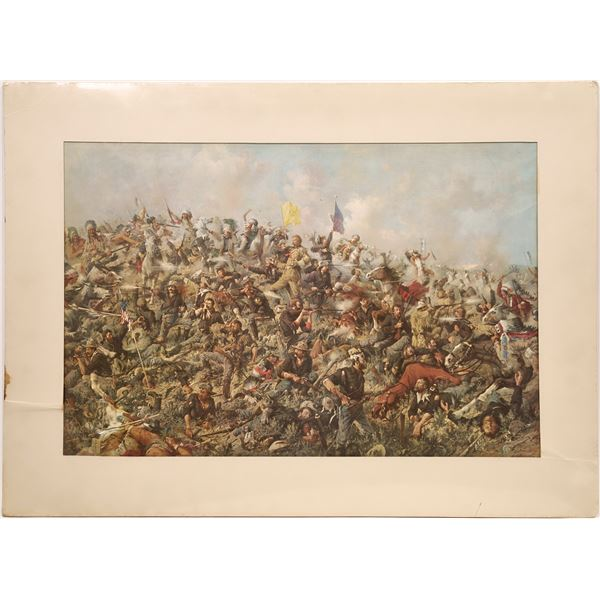 Custer's Last Stand by Edgar S. Paxson Lithograph Print  [139723]