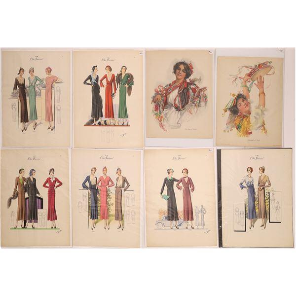 Fashion Drawings From Chic Parisian (15)  [140532]