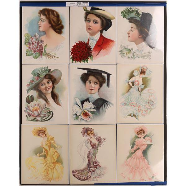 Elegant Victorian Ladies Lithographs   [139756]