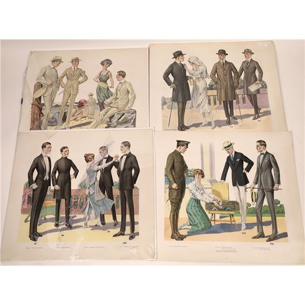 M. Born and Company Clothing Advertisements of 1919 with Fabric Swatches  [138447]