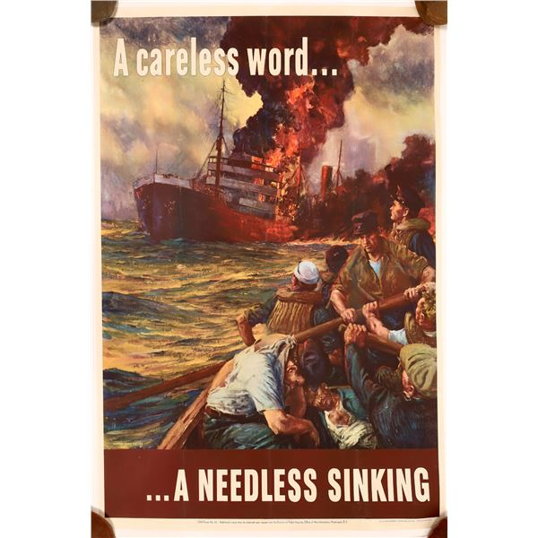 A careless word...A Needless Sinking Poster from WW2   [139737]