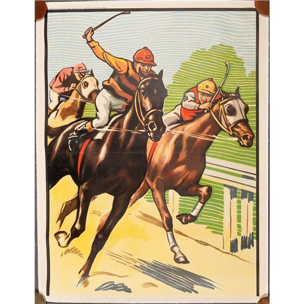 Running Race, a Lithograph Poster  [139746]