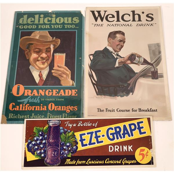 Grape Drink and Orangeade Advertisement Posters  [139112]