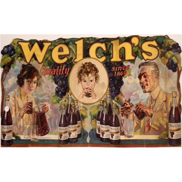 Welch's Grape Drink Three Foldout Store Sign   [139510]