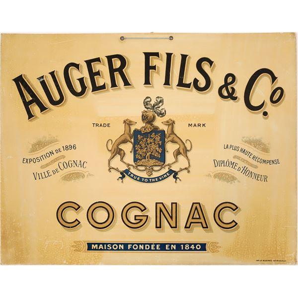 Auger Fils & Co. Cognac Advertisement   [139517]