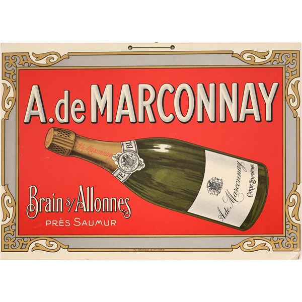 Store Advertisement for A.de Marconnay Sparkling Wine  [139515]