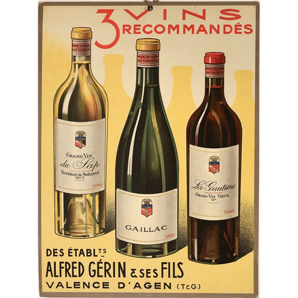 Three Recommended Wines-Store Advertisement for Gerin  [139514]