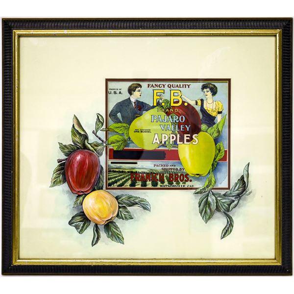 Pajaro Valley Apples Fruit Packing Label with Original Art  [139648]
