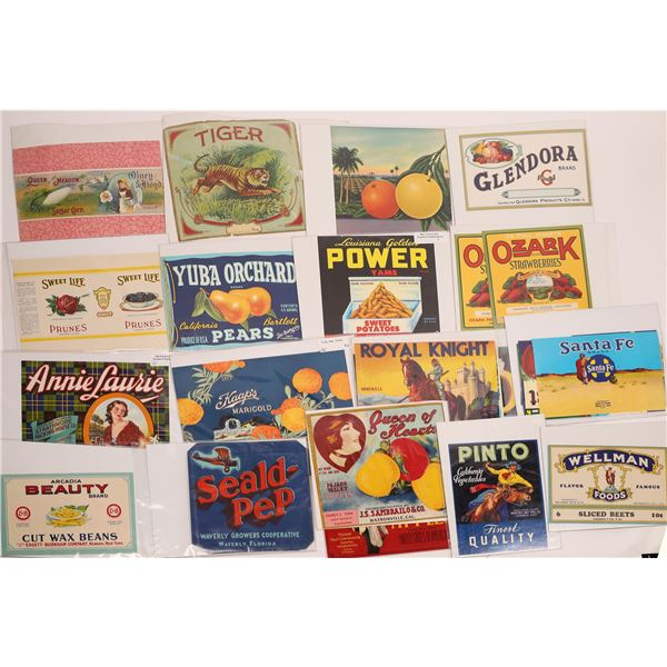 Colorful Fruit Company Crate Labels ~ 60  [140533]