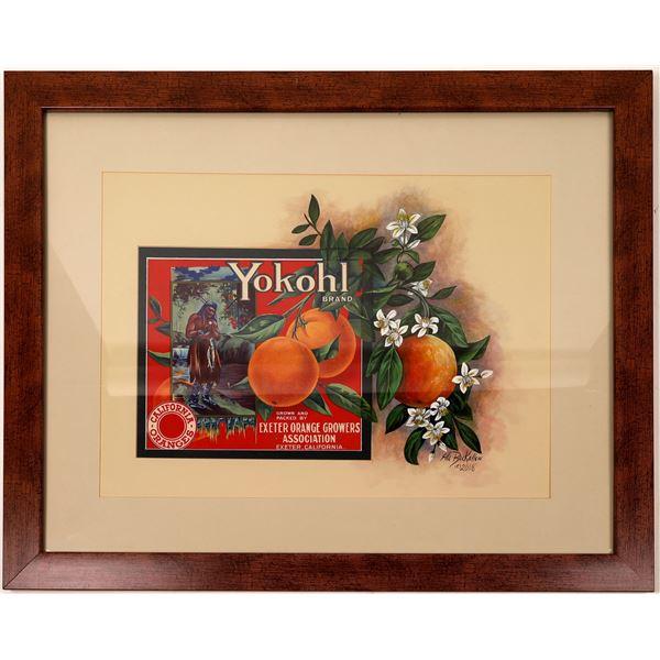Yokohl Brand Oranges Exeter Orange Growers Association print by Ella Ruckallew  [138439]