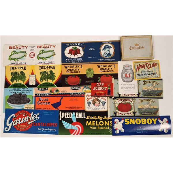 Fruit Crate Labels & Advertising Pieces  [138527]
