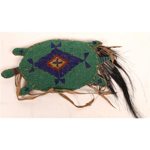 Beaded Turtle Fetish/Amulet  [141120]