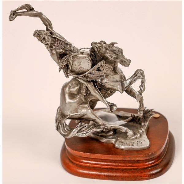 Sioux War Cry, Chilmark Pewter by Michael A. Boyette  [138757]