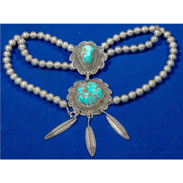 Navajo Double Pendant Necklace   [140332]