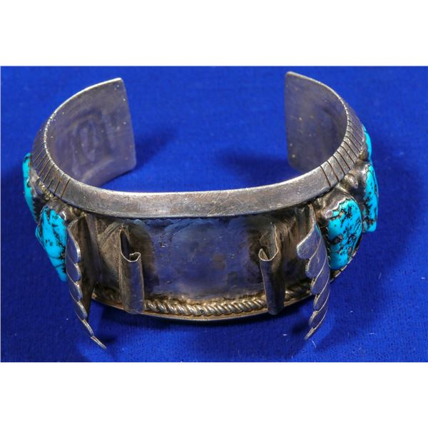 Vintage Pawn Turquoise Watchband  [140334]