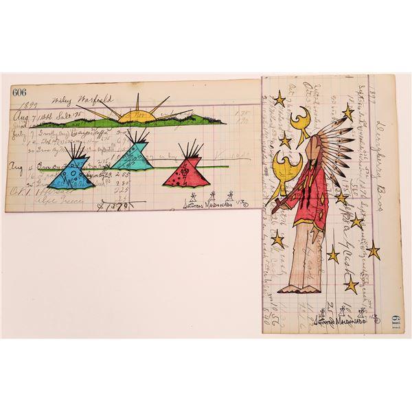 Lakota, Quinton Maldonado Original Ledger Artwork   [140732]