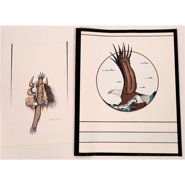 Original Native American Artwork by Lakota Artist Howard Blue Bird  [140734]