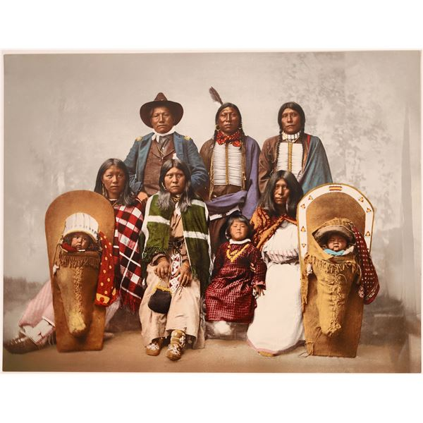 A Detroit Photography Co. Print of Chief Savara and Family  [139705]