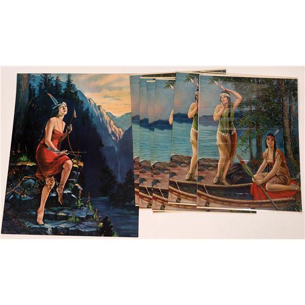 Indian Prints (3) Vintage  [138664]
