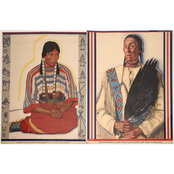 Native American Prints by Winold Reiss for the Great Northern Railway  [139525]