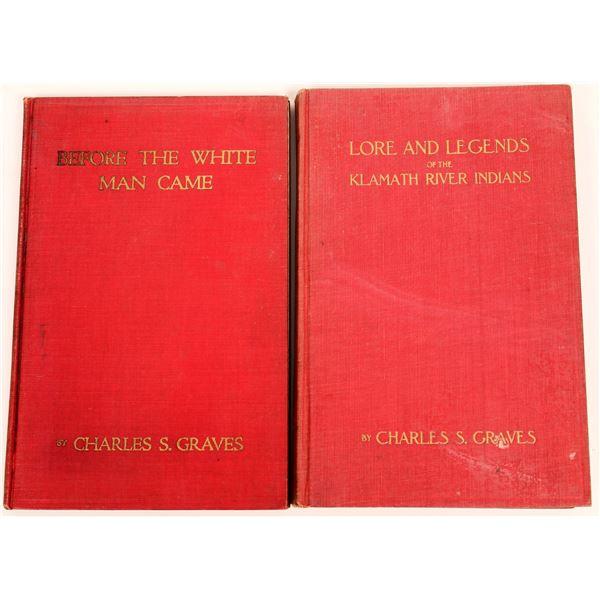 Klamath River Indians FIRST EDITION 2 Book Autographed Set  [140730]
