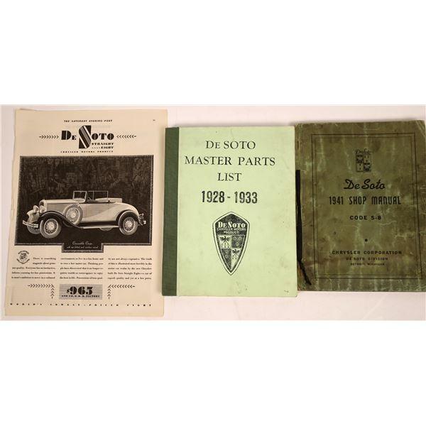 DeSoto Shop Manual and Parts List  [138390]