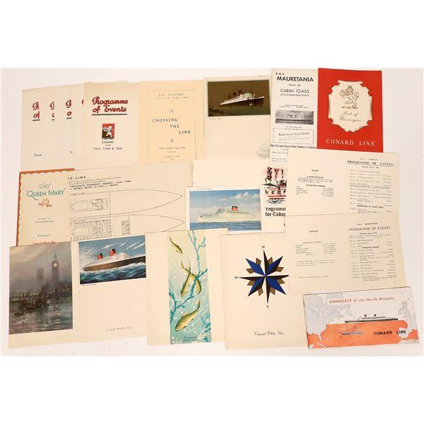 Cunard White Star Steam-Ship Collection (18) R.M.S Mauretania (4)   [139071]