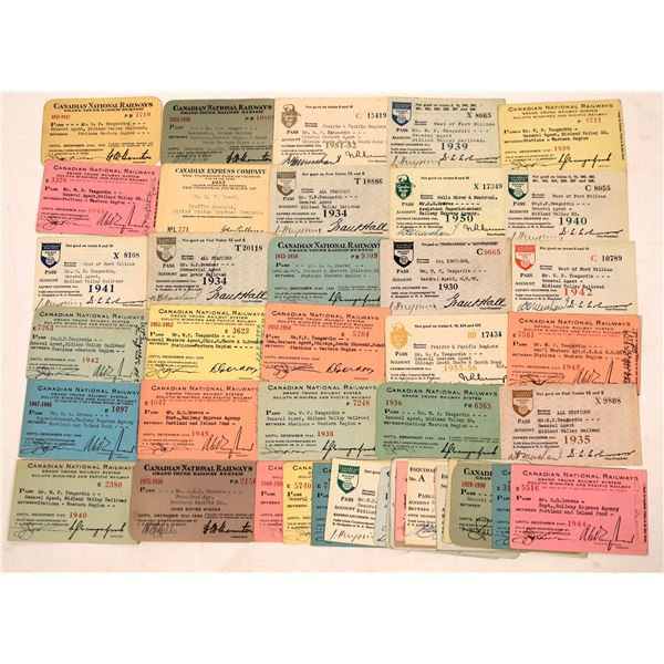 Canadian Railroad Pass Collection  [136202]