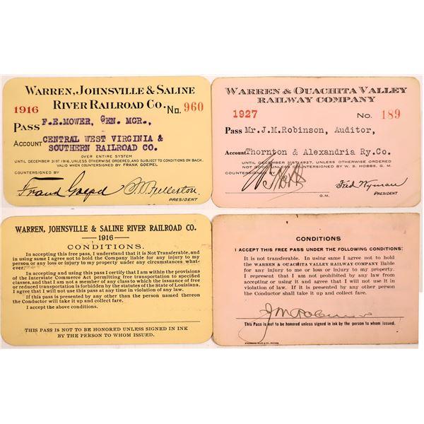 Railroad Pass, Warren, Johnsville & Saline River RR  [140228]