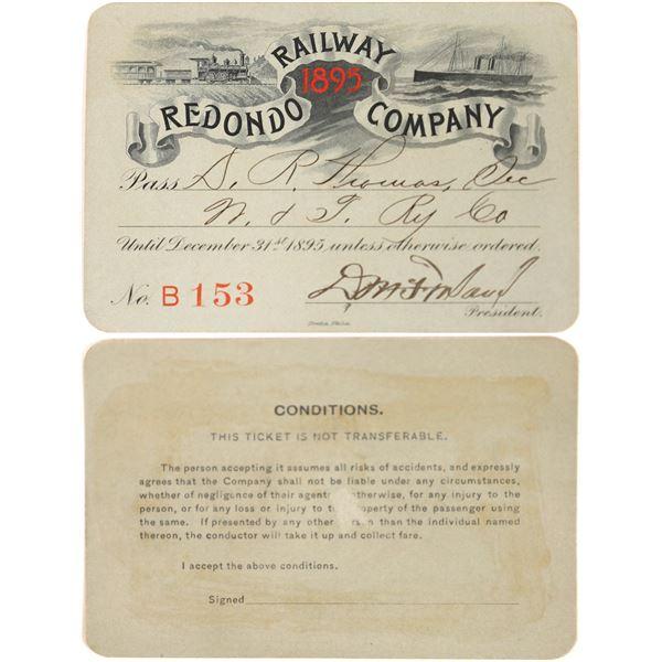 Railroad Pass, Redondo Railway Company  [140236]