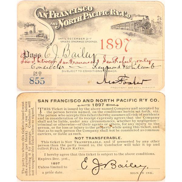 Railroad Pass, San Francisco and North Pacific Ry  [140232]