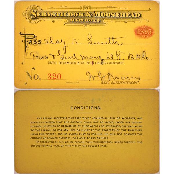Railroad Pass, Sebasticook & Moosehead RR  [140239]