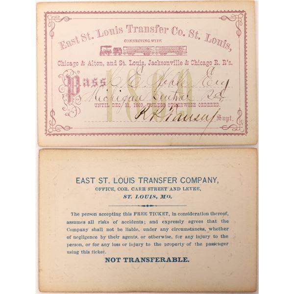 East St. Louis Transfer Co., St. Louis Pass 1869  [130519]