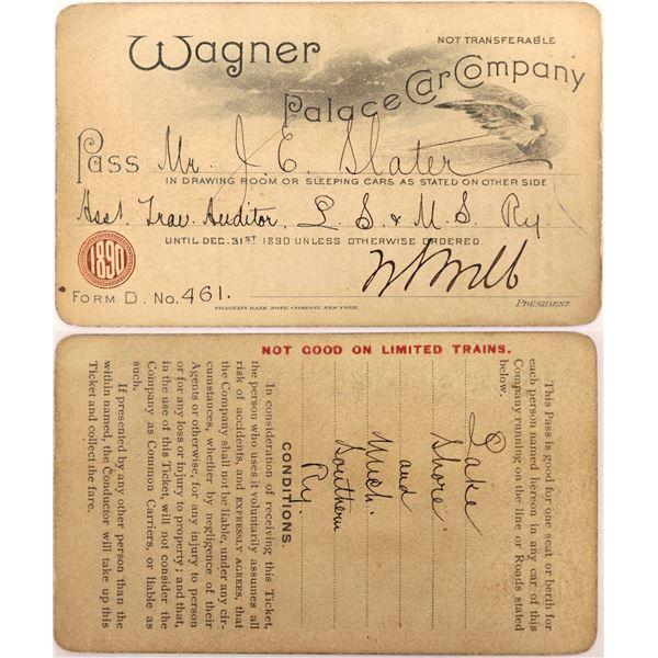 Wagner Palace Car Company Pass, 1890  [130516]
