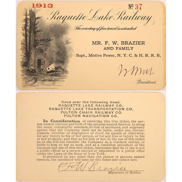 Railroad Pass, Raquette Lake Railway  [140238]
