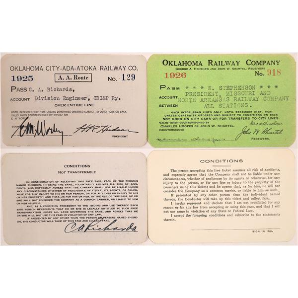 Railroad Passes, Oklahoma Group - 2  [140212]