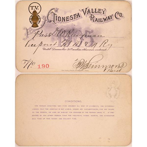 Railroad Pass, Tionesta Valley Railway  [140390]