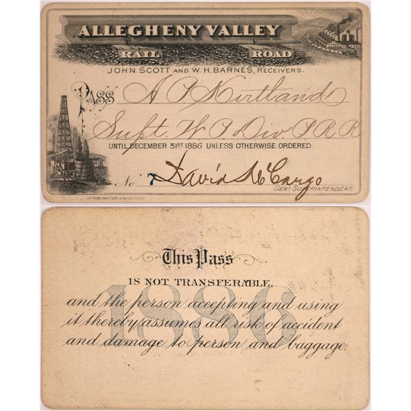 Allegheny Valley Rail Road Pass, 1886  [130502]