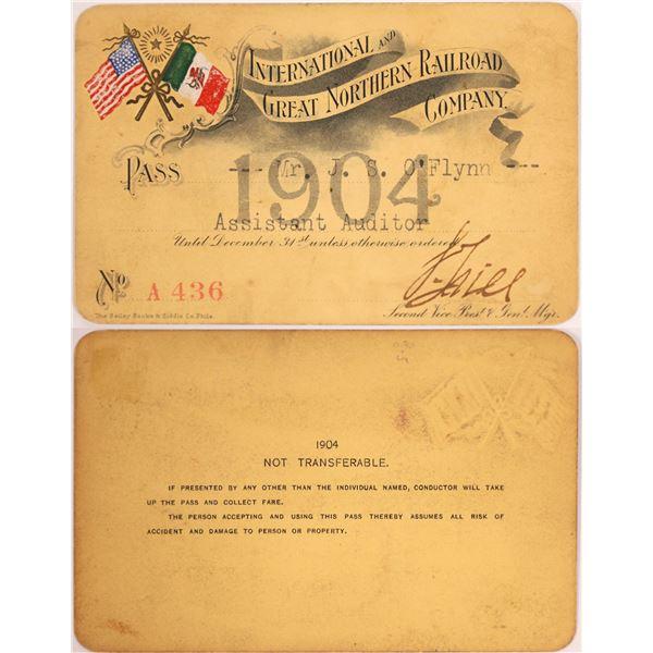 International and Great Northern Railroad Company Pass, 1904  [130506]
